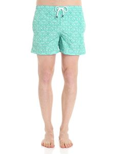 FEDELI Swim&Wear - Green swimsuit with stars and fish