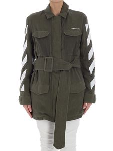 Off-White - Army green Diag Field jacket