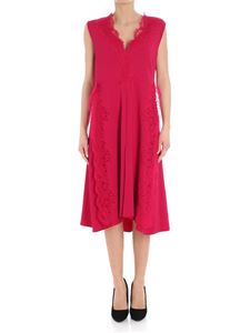 Givenchy - Red dress with lace inserts