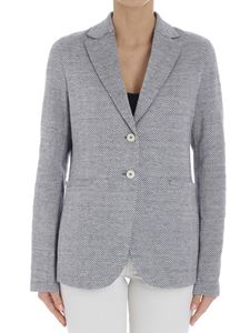 Harris Wharf London - White and blue knitted jacket