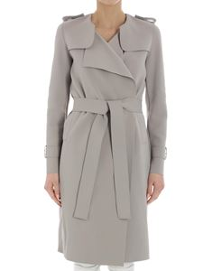 Harris Wharf London - Gray stretch trench coat