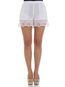 Ermanno by Ermanno Scervino - White macramé shorts