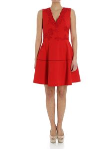 Ermanno by Ermanno Scervino - Red dress with macramé inserts