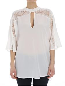 Ermanno by Ermanno Scervino - Top in pizzo bianco