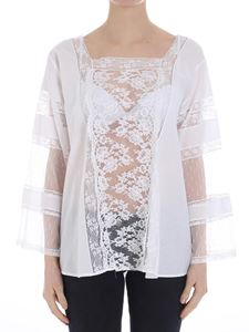 Ermanno by Ermanno Scervino - White blouse with lace