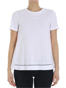Ermanno by Ermanno Scervino - White t-shirt with floral embroidery