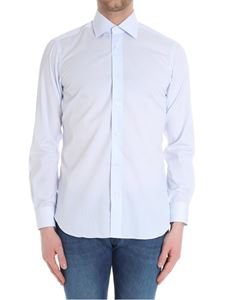 Barba - White and light blue striped shirt
