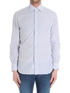 Barba - Blue microstriped shirt