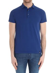 Drumohr - Electric blue cotton polo