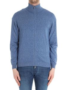 Fedeli - Light-blue Favonio cardigan