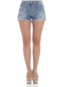 Ermanno by Ermanno Scervino - Denim shorts with embroideries and beads