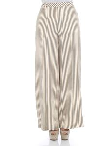 KI6? Who are you? - White and ocher striped trousers