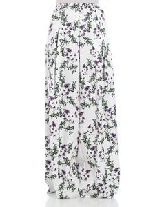 Blumarine - White palazzo trousers with floral print