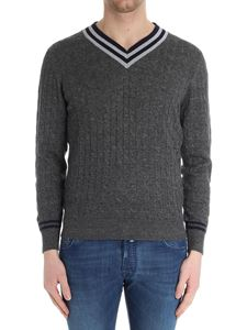 Brunello Cucinelli - Gray weave knitted sweater