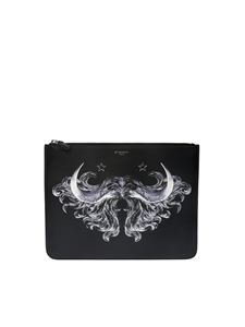 Givenchy - Black clutch with logo