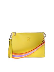 Versace - Yellow clutch with logo