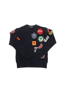 Dsquared2 - Blue sweatshirt with patches