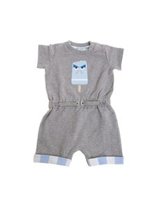 Fendi Jr - Gray jumpsuit with ice-cream print