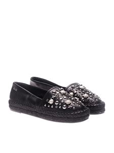 Karl Lagerfeld - Black espadrilles with studs and logo