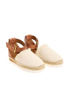 See by Chloé - Beige fabric sandals