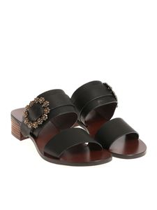 See by Chloé - Sandals with rhinestone buckle