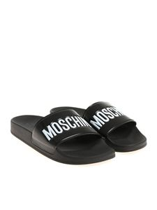 Moschino - Black slides with logo
