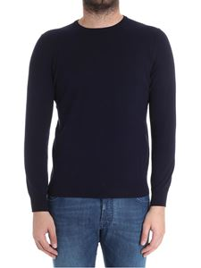 Kangra Cashmere - Blue sweater with patches