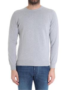 Kangra Cashmere - Gray sweater with patches