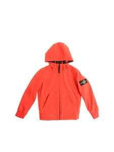 Stone Island Junior - Red hooded jacket
