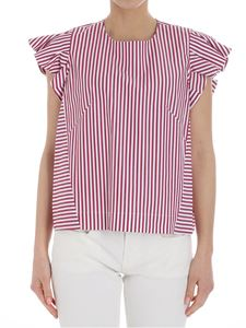 Stella Jean - White and red striped top