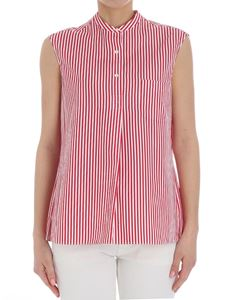 Aspesi - White and red striped top