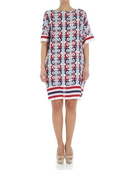Perfect Sale Online Clearance Online Official Site Boat print viscose dress Fay idC5HsXOF