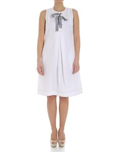 Fay - White dress with ribbon on the neckline