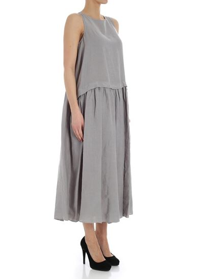 Gray oversize dress Aspesi uuHs34GV