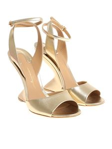 Salvatore Ferragamo - Golden Arsina sandals