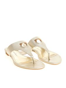 Salvatore Ferragamo - Golden Enfola flip flop sandals