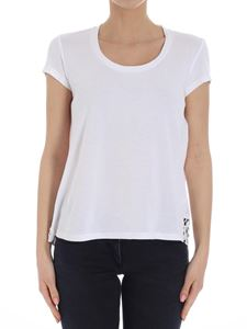 Semicouture - White t-shirt with Sangallo lace insert