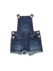 Monnalisa - Denim dungarees with fringes