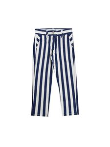 Monnalisa - White and blue striped trousers