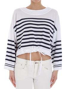 Semicouture - White and blue Anson striped shirt