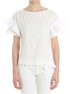 Semicouture - White Elliot top with ruffles