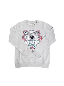 Kenzo - Gray sweatshirt with embroidered logo