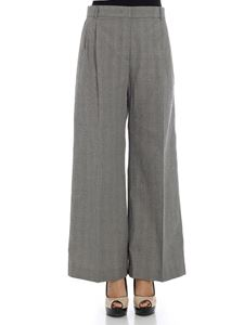 Aspesi - Black and white Prince of Wales trousers