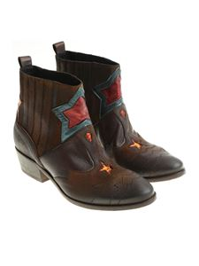 Strategia - Brown leather Roxana ankle boots