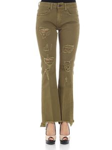 Dondup - Army green Trumpette flared jeans