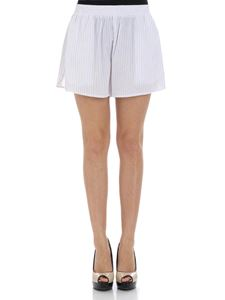 MM6 by Maison Martin Margiela - White pinstriped shorts