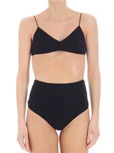 Oséree Swimwear - Black Brasierre with Pant High Lumiere swimsuit