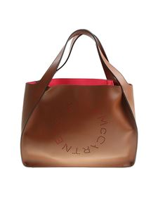 Stella McCartney - Brown colored Tote bag with pierced logo