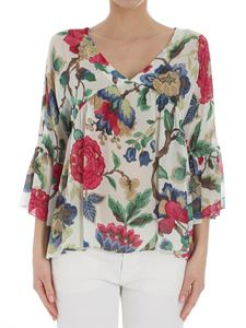 Semicouture - Floral crepe top