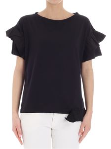 Semicouture - Black Elliot top with ruffles